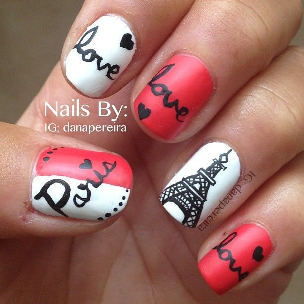 25+ Best Eiffel Tower Nails Ideas On Pinterest