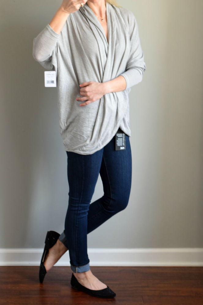 Trunk Club Review:  Free People Wrap Top |www.pearlsandsportsbras.com|