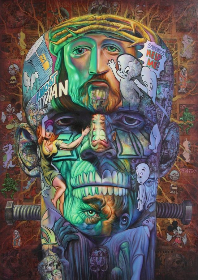 Ron English, agitprop graffiti supremo and art giant!  What?