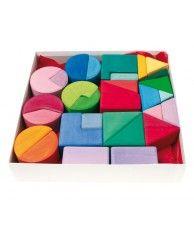 Triángulo, cuadrado, circulo bloques de construcción