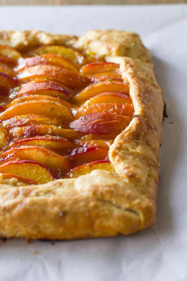 Summer Peach Galette - This was really easy and lovely. I was hesitant to stray from my own crust recipe, but this one was perfect. Flakey and crisp, but sturdy (the fruit topping gets quite wet)