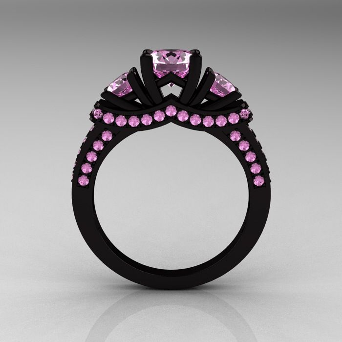 black gold pink ring i want