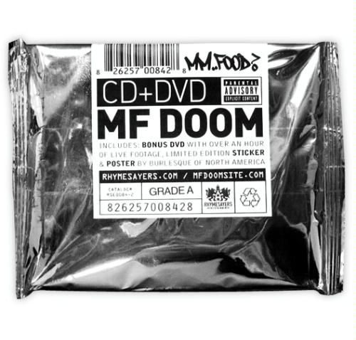 mf doom mm..food? foil packaging 2009