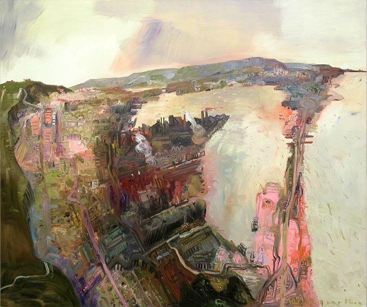 John Hartman. Hamilton Harbour, 2003, oil on linen, 78 x 93.5 inches