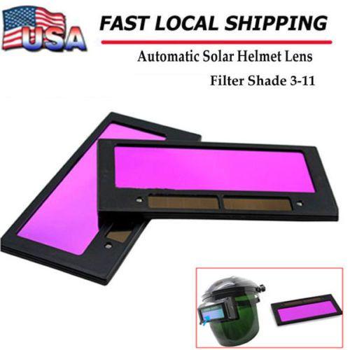 4-1-4-x-2-solar-Auto-Darkening-Welding-Lens-hood-Filter-Shade-3-11-US-SHIP-New