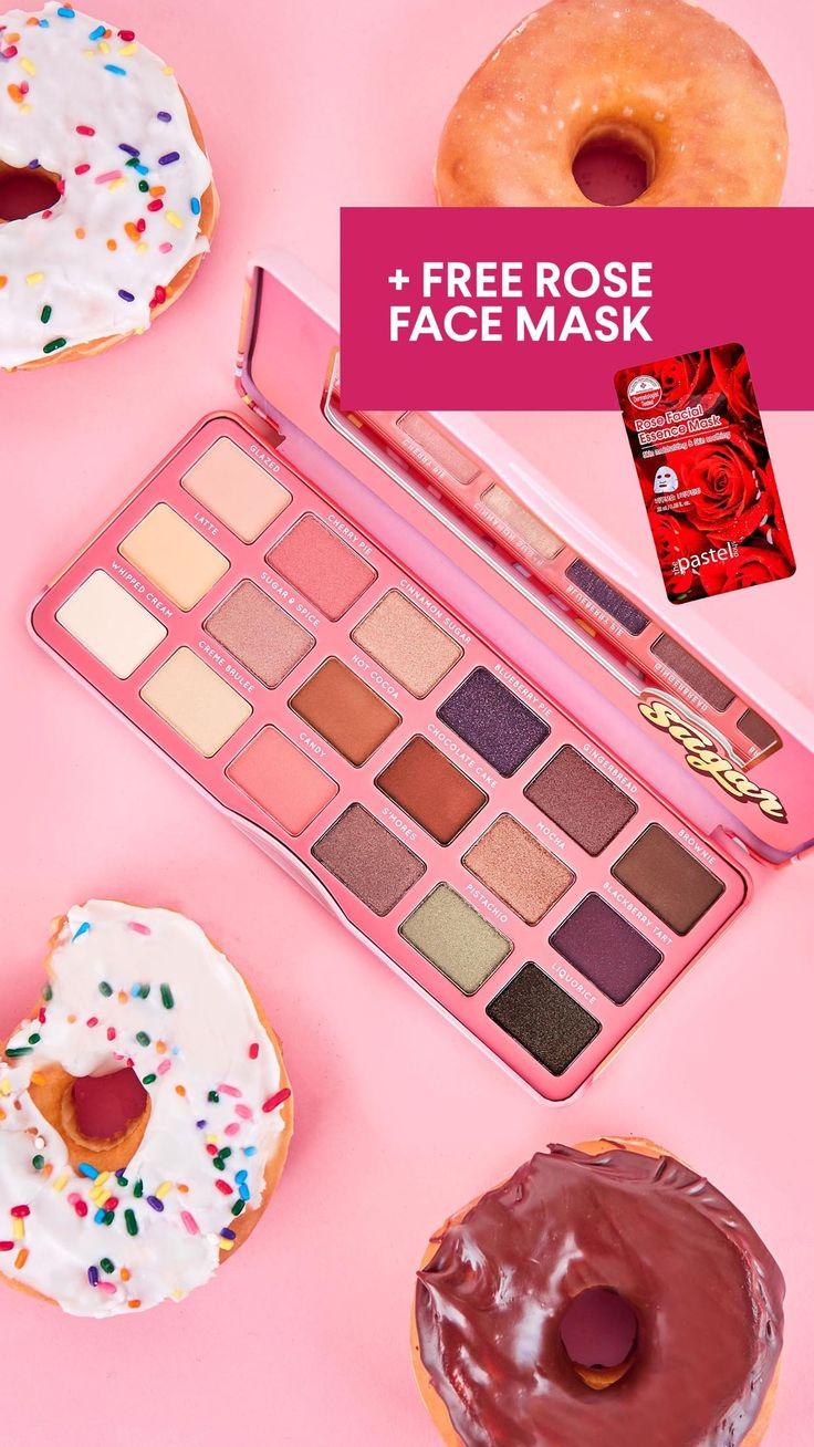 Sugar Eyeshadow Palette   FREE ROSE SHEET MASK