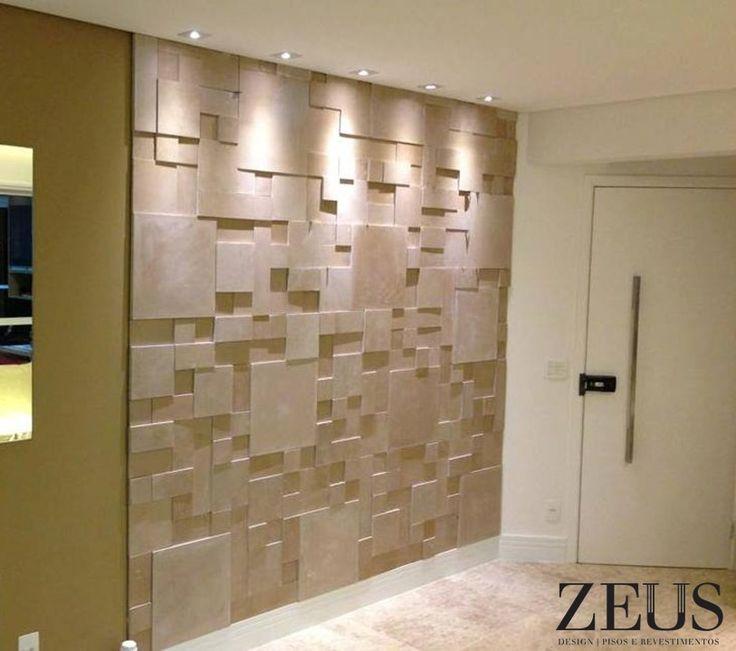 Revestimento cimenticio mosaico zeus cor travertino revestimentos pinterest - Papel para revestir paredes ...