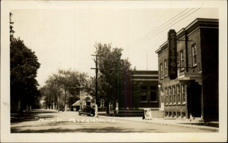 Middleton NS Main Street Old Car Sign Photo, Photo