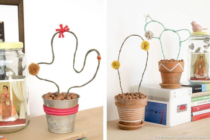 #DIY des cactus en fil de fer