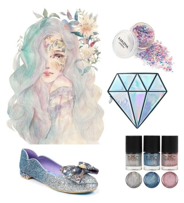 """Unicorn tears.."" by penkreitto on Polyvore featuring beauty, Unicorn Lashes and Irregular Choice"