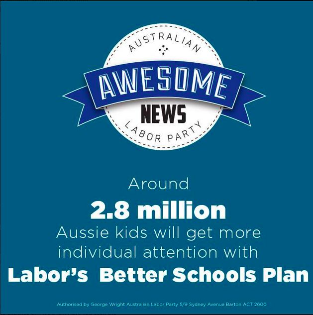 "ALP FB - ""It's Awesome News"" - schools plan"
