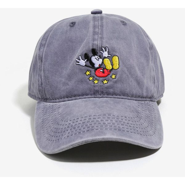 Disney Mickey Mouse Ouch Dad Hat ($15) ❤ liked on Polyvore featuring men's fashion, men's accessories and men's hats