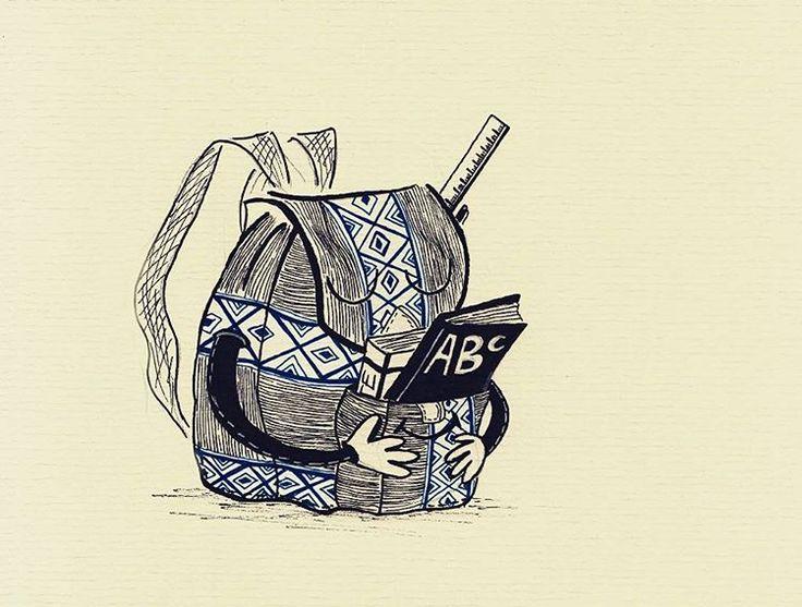 Funky pack. Textures. Patterns. Ink. Blue. Black.