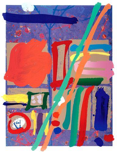 "Albert Irvin - ""Kepler"", 1998,  Screenprint with woodblock,  Edition size: 125, Image size: 122 x 91.5cm,  Paper size: 146 x 113cm, PRICE: £1,750 ex VAT"