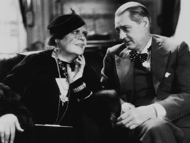 """tcm: """"Remembering Marie Dressler on her birthday, here with Lionel Barrymore in DINNER AT EIGHT ('33) """""""