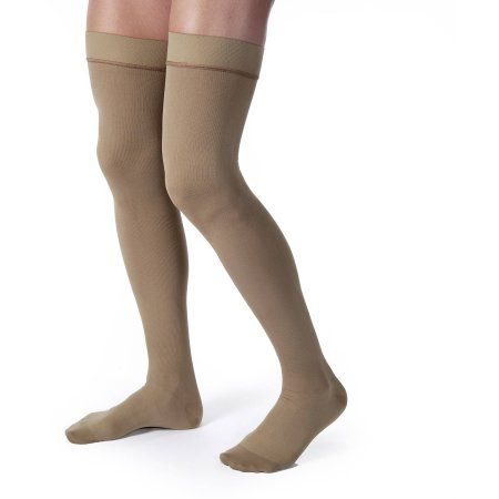 Jobst Compression Stockings Jobst Thigh-High, Pair, Women's, Size: Large, Beige