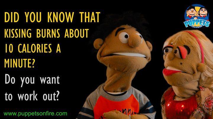 Kissing burns calories! ##funnymemes #meme #joke #oneliner #puppet #funnypuppets http://ift.tt/2mGYExL