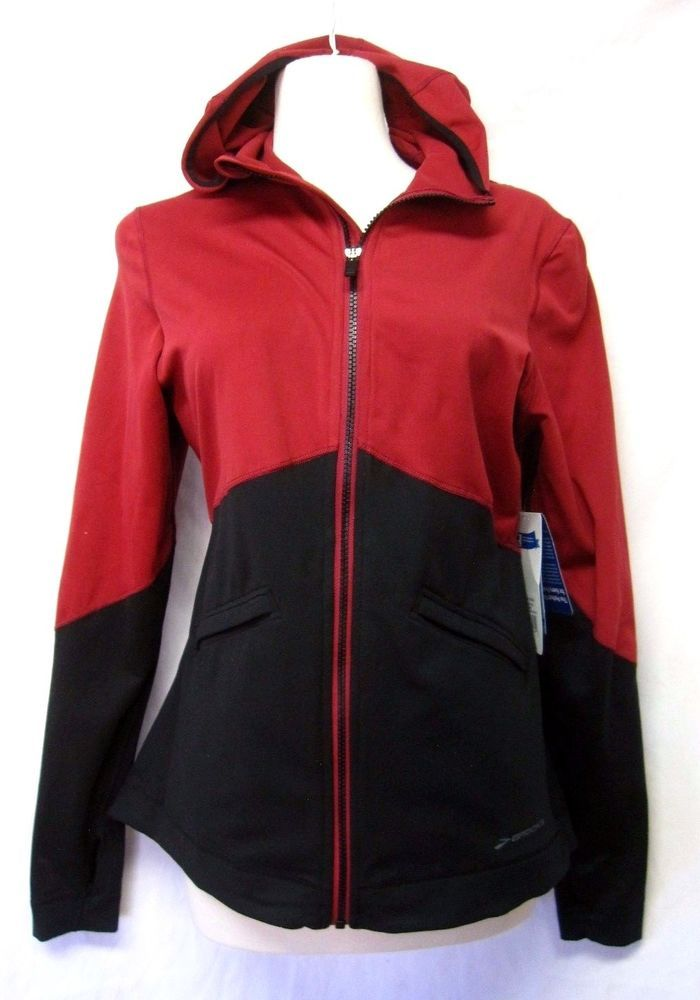 BROOKS womens UTOPIA Thermal Hoodie III Jam/Black sz L NWT running JACKET #Brooks #RunningJacket