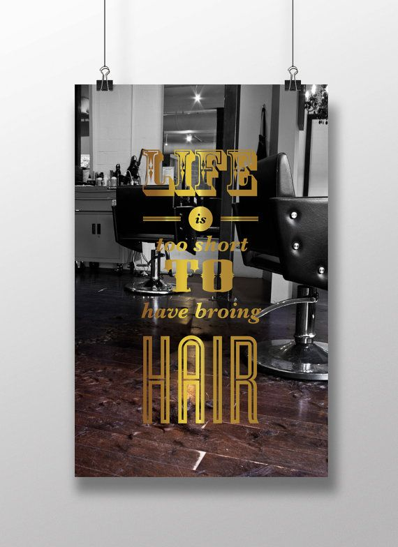 Motivation Hair Salon Quote Poster Art Print Positive by MOTIDEA