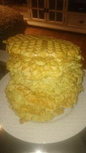 A Mountain of Waffles #waffles #vafler #yummi