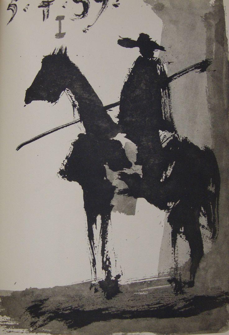 Luis Miguel Dominguín, Toros y toreros, 1961. ImpresoIlustrado por Pablo Picasso.