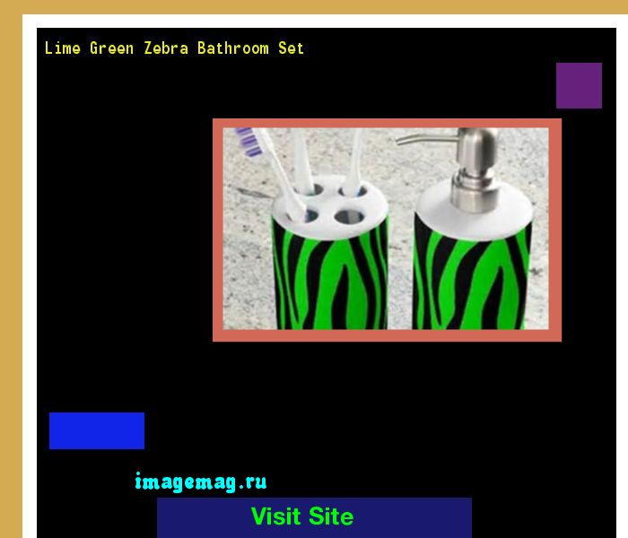 Lime Green Zebra Bathroom Set 114140 - The Best Image Search