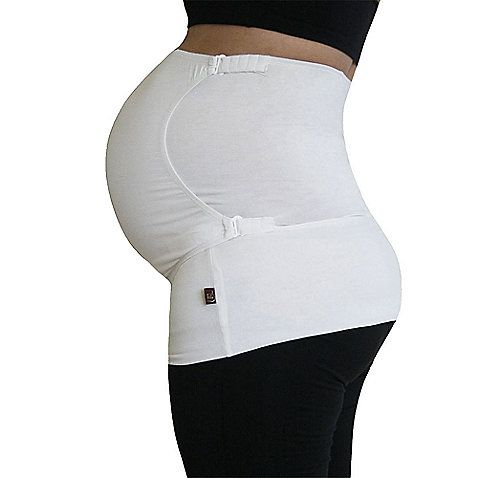 Pure Belly 3-in-1 Pregnancy & Postpartum White Belly Support Wrap