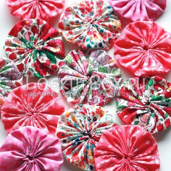 12 цветов. Одеяло йо-йо техника йо йо в лоскутном шитье