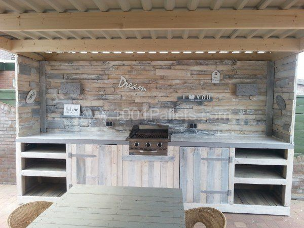 Pallet Outdoor Kitchen • 1001 Pallets