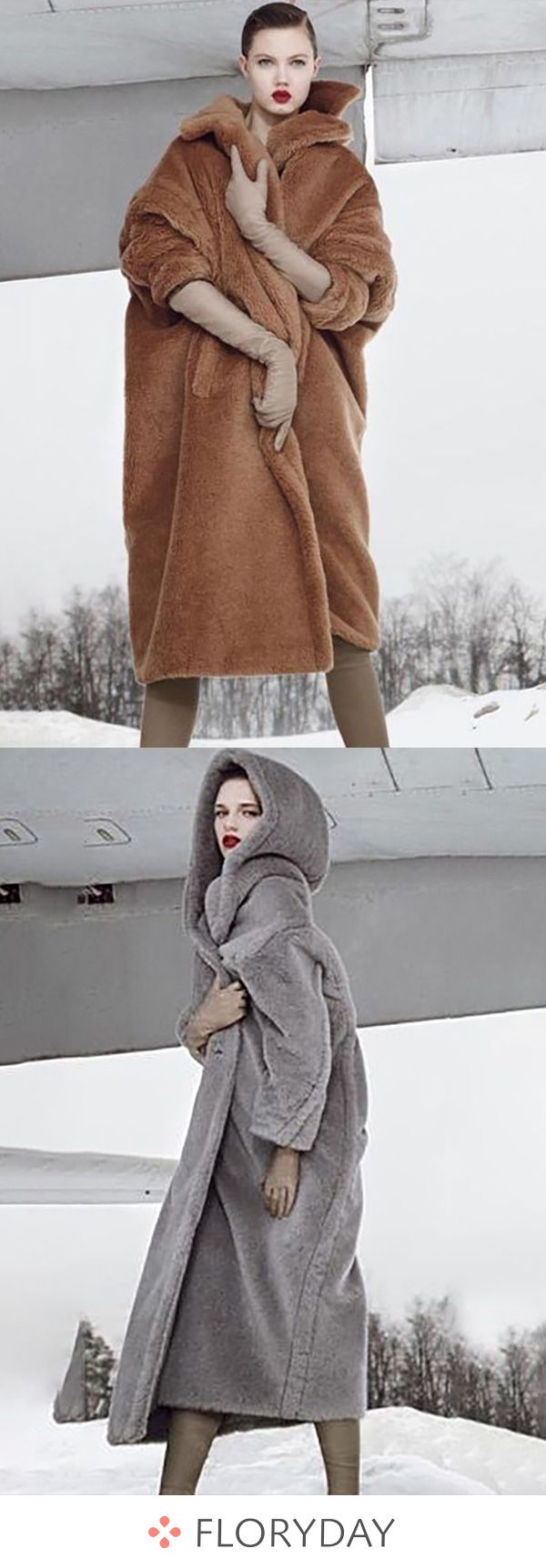 Coats, Faux Fur Long Sleeve Hooded Coats, US$ 77.11,