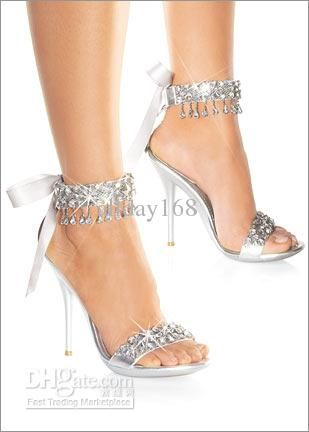 Wholesale 2012 High heels silver Rhinestone Shoes/wedding shoes for Bridal Shoes, Free shipping, $58.24-76.16/Piece | DHgate
