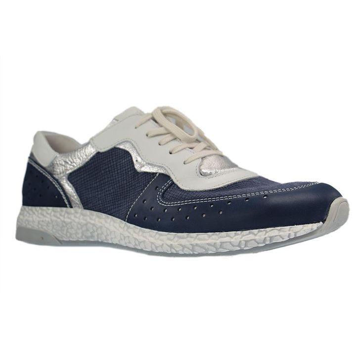 JOSEF SEIBEL - Lia 21 - Damen Sneaker - Blau große Schuhe in Übergrößen - Größe 43, 44, 45