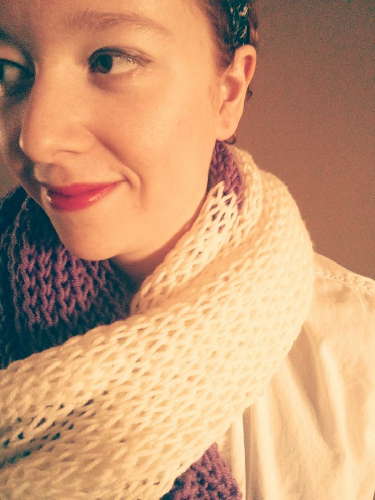 'The Grandstand' wrap/scarf; vintage inspired knitting, Copacetic Knits on Etsy