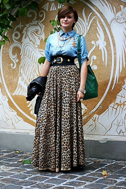 Leopard maxi skirt!  Can someone make this for me...pweeeeeese