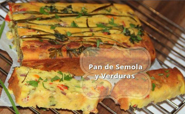 pan de semola y verduras receta