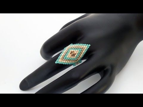 TheHeartBeading: Brick Stitch Ring Tutorial (no sound) - YouTube