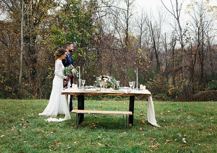 ​Woodland Wedding Style Shoot | The Wedding Co. Loved being part of this gorgeous fall wedding shoot. This table centerpiece was so pretty