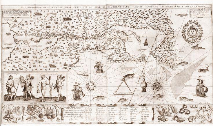 Map Of The New World Samuel de Champlain, 1612