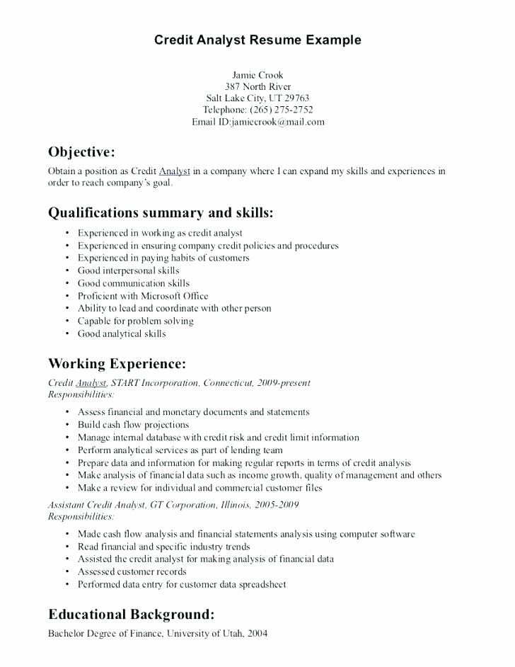 Entry level financial analyst resume beautiful entry level