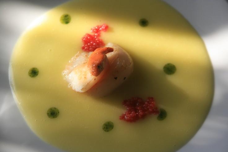 Pellegrina (Capasanta) con crema di patate