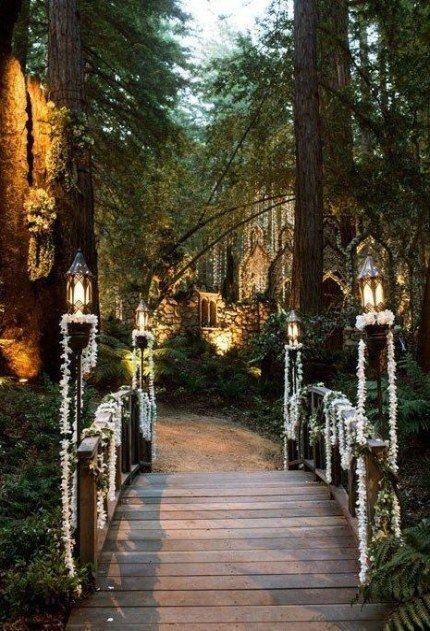 Garden Wedding Enchanted Ceremony 47 Trendy Ideas #wedding #garden