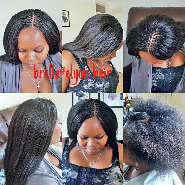 Crochet braids with pick and drop on natural hair