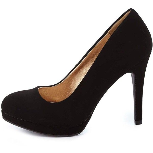 Charlotte Russe Round Toe Sliver Platform Pumps and other apparel, accessories and trends. Browse and shop 3 related looks.