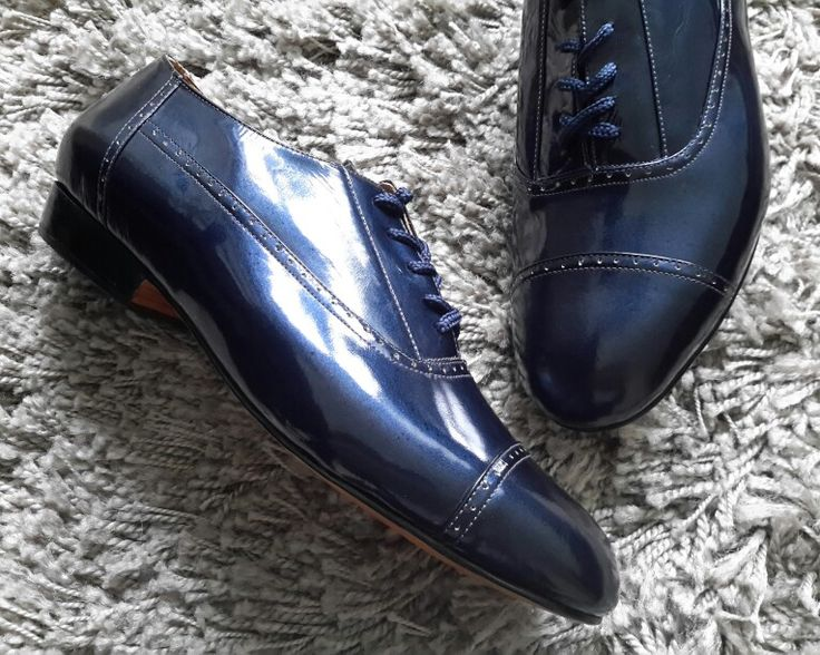 Mr Tango Shoes 'Godfather' custom made in stunning navy patent leather, at amysshop.co.uk