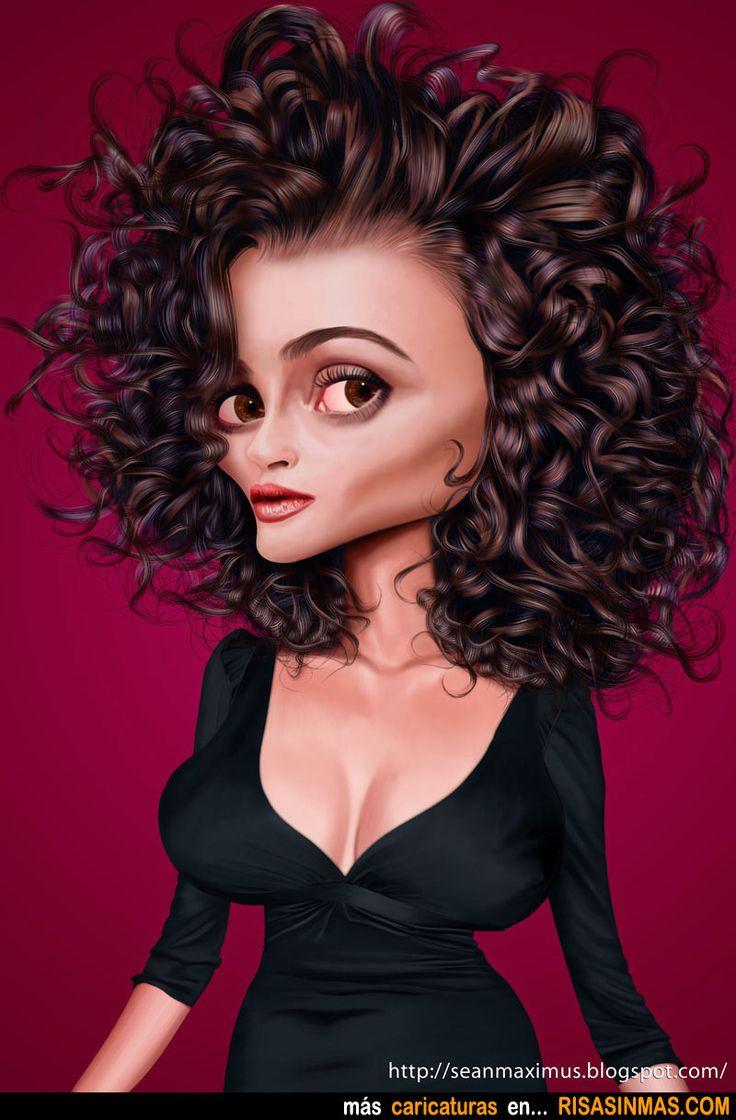 Caricatura de Helena Bonham Carter.