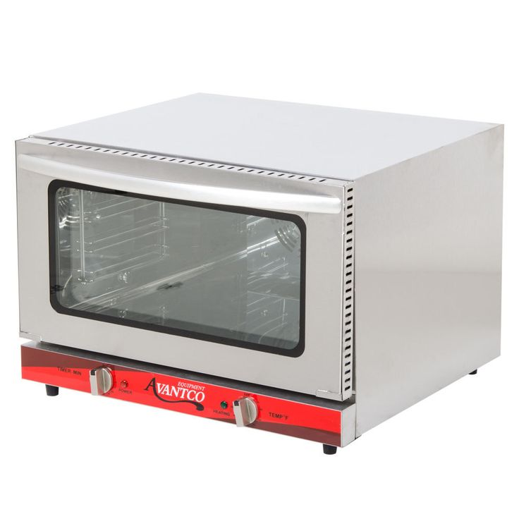 attractive Half Oven Kitchen Appliances #10: Avantco CO-16 Half Size Countertop Convection Oven, 1.5 Cu. Ft. - 120V,  1600W