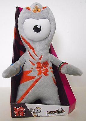 Wenlock, a soft Olympic Mascot commemorating the London 2012 Olympics, by Golden Bear Products. For sale £14.99