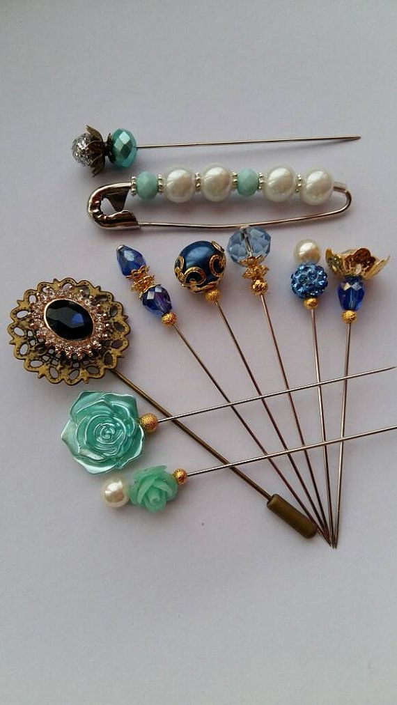 SALE Reduced Vintage Inspired Mint&Blue Hijab by craftoholictamina