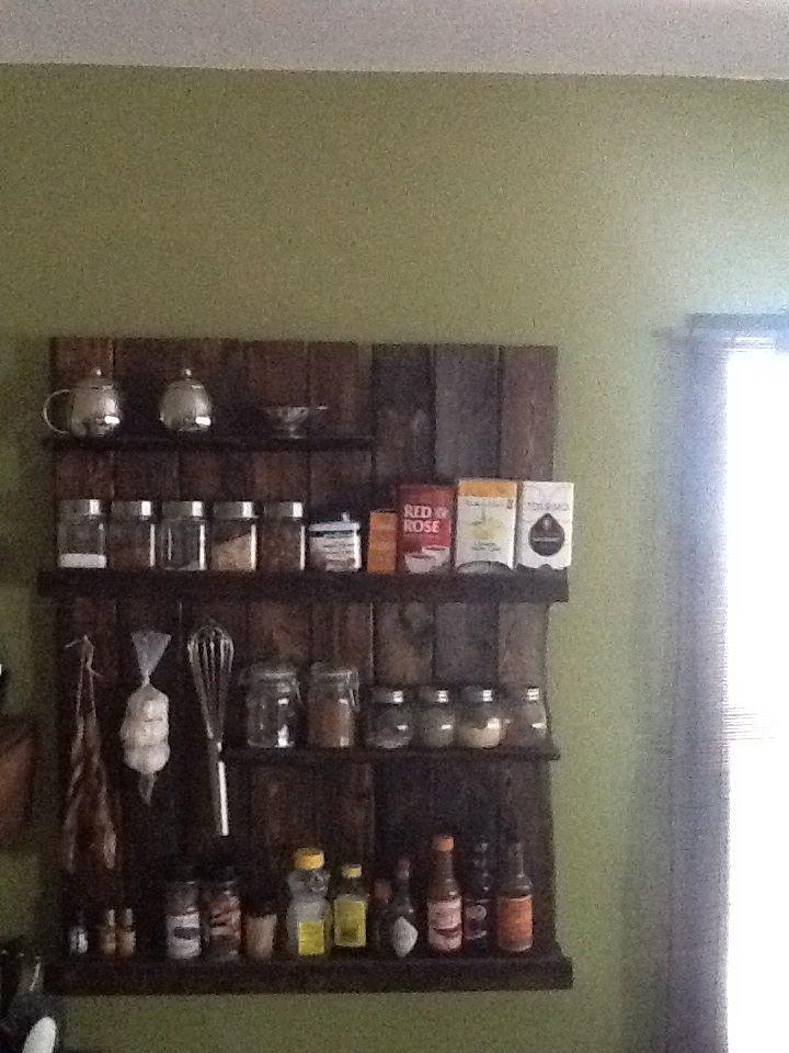 Wood Pallet Spice Rack | kitchen ideas | Pinterest ...