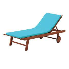 Coussin bain de soleil Peps bleu - 185 x 55 - Casto - 30€
